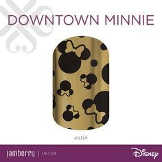 You can't go wrong with a bold black and gold design! 'Downtown Minnie' will glam up any outfit!