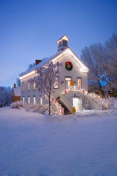 Pioneer Church at Christmas Time,  Utah