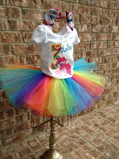 My little pony inspired Tutu set pinkie pie
