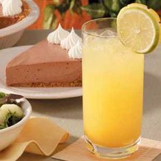 Citrus Quencher. Sparkling and refreshing, my Citrus Quencher complements a meal with just the right tartness. It's so easy to mix up that I serve this sunny beverage year-round.