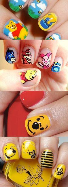 Pooh Bear Nail Art...