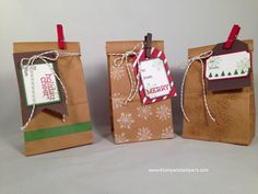 Stampin' Up! Petite Cafe Bags Under the Tree Tag a Bag