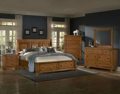 REFLECT PINE 4PC QUEEN STORAGE BEDROOM SET $2,297.77 Sku:141433 Dimensions:65Wx96Dx58H  Meticulous craftsmanship exudes every piece with a Made in USA spirit and attitude. Retreat and relax in your calm surroundings every night while you enjoy the character and warmth of your USA made bedroom suite. Please visit our website for more information on warranties and benefits.