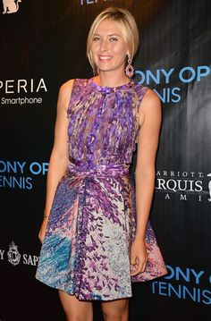 Maria Sharapova at Sony Open Player Party in Miami, March 2013.