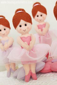 Acabamos de postar AQUI  uma ideia para sua festa de Bailarina! Agora olha esta fofura que encontrei no blog Boutique de feltro ! Bailarina...