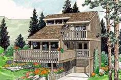 Contemporary Style House Plan - 3 Beds 2 Baths 1660 Sq/Ft Plan #116-102 Exterior - Front Elevation - Houseplans.com