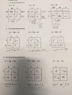 Using grids with year 10 set 5/6 #factorising -lhmaths (@lhmaths) | Twitter