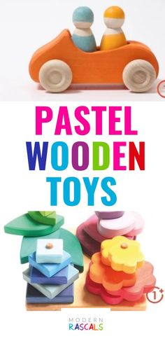 Our pastel wooden toys are so buttery soft looking. The colors are simply beautiful. We just love them and your kids will too! The best part is that they are organic, natural, ethical and sustainable kids toys that are FUN! They are sure to promote open ended play and they will be loved for generations to come. Grimm's Toys, Baby Toys, Kids Toys, Sorting Games, Green Living Tips, Unique Toys, Creative Play, Imaginative Play, Kids Gifts