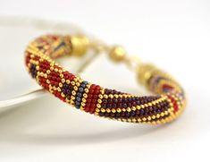 Vinyard Bead Crochet Bracelet Beaded Luxury by LeeMarina on Etsy