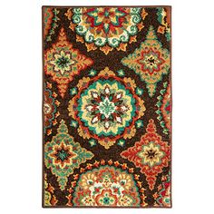 ShawR LivingTM X Brown Suzani Accent Rug At Big Lots