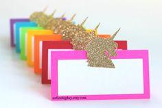 Unicorn Place Cards-Unicorn birthday unicorn party by SofiesBigDay