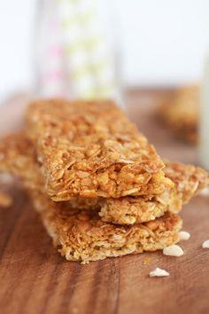 Barritas de cereales caseras https://www.pinterest.com/Recetasgratis/postres-faciles/