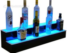 This 36 2 Step LED Illuminated Back Bar Liquor Shelves Free is just one of the custom, handmade pieces you'll find in our baskets & bowls shops. Bar Shelves, Glass Shelves, Liquor Shelves, Shelf, Display Shelves, Led Light Projects, Deco Led, Custom Shelving, Home Bar Designs