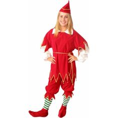 Our Women's Santa's Helper Costume is the perfect Elf Costume for women. - Tunic with sleeves and collar - Pants - Hat - SKU: CA-013455