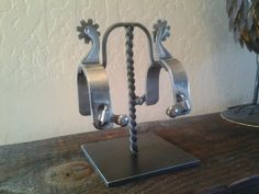 Handmade Spur Display Stand Hanger by YountMetalworks on Etsy, $49.95