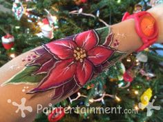 Christmas Face painting by Gretchen Fleener