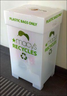 Macy's Recycled Recycling Bin