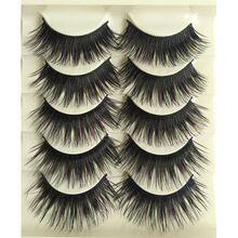 5Pair Halloween Party Professional Make Up False Eyelashes Beauty Supplies Cosmetics Bigeye Lengthening Natural Fake Eyelashes(China)
