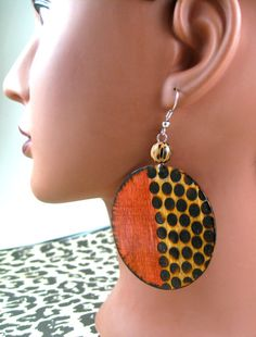 Round Spotted Tribe Earrings by JEHAANS on Etsy, $25.00