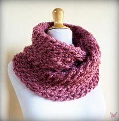 ANTIQUE ROSE (OR Choose Color) infinity scarf / cowl -- wool blend, chunky, fashion accessories by BeanieVille on Etsy https://www.etsy.com/listing/224302882/antique-rose-or-choose-color-infinity