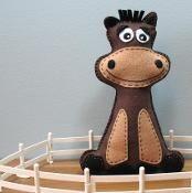 Stuffed Horse - via @Craftsy