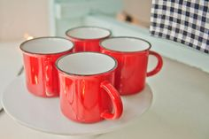 Tinware mugs are perfection for a lovely cup of tea