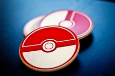 PokeCoasters. http://www.etsy.com/listing/89642979/pokemon-pokeball-coasters-set-of-4