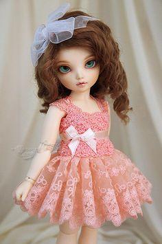 Salmon dress for TINY bjd LittleFee   by *frezje*
