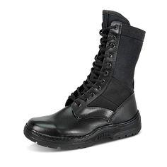 ad0aa22ad5 Coturno Militar Masculino Sobotas Couro e Lona CCL Indicado para forças  armadas