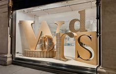 Giles Miller's laser cut cardboard 'Words' display, photo by Andrew Meredith  Selfridges Words, Words, Words Image-5 selfridges-words-words-words