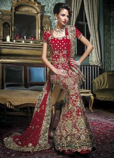 Wow, the details are so intricate on the lehnga. Love it!