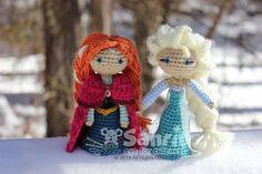 PATTERN Instant Download Elsa Frozen Crochet Doll by Sahrit