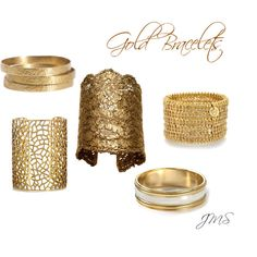Gold Bracelets, created by cinnamonbabka41 on Polyvore