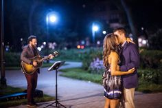 With Todd Kessler's guitar skills and Visions Event Studio proposal planning, Matthew and Kristen had the engagement of a lifetime.