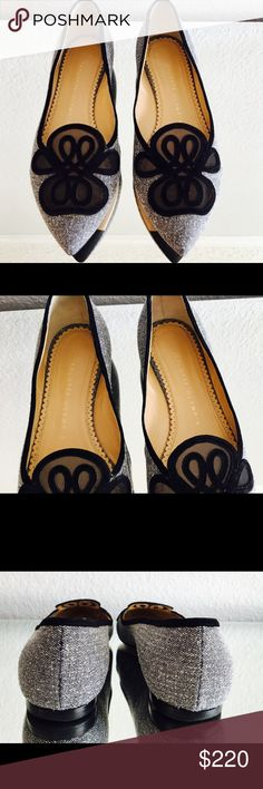 Charlotte Olympia Flats Charlotte Olympia Flats  Color: Gray and black  Made in Italy  Pre-Loved - Excellent condition  Est Retail $650.00 Now on Sale $220.00  Thank you for stopping by to visit us! Vanity's Vault Charlotte Olympia Shoes Flats & Loafers