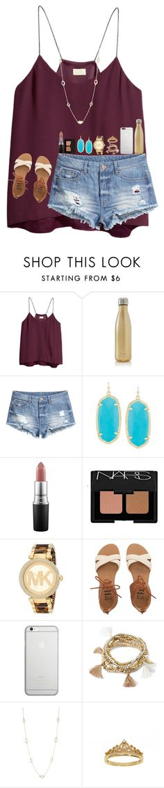 """""""Always wear your invisible crown"""" by jululily ❤ liked on Polyvore featuring H&M, S'well, Kendra Scott, MAC Cosmetics, NARS Cosmetics, Michael Kors, Billabong, Native Union, Forever 21 and Kate Spade"""