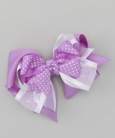 Another great find on #zulily! Orchid Triple-Layer Bow Clip #zulilyfinds
