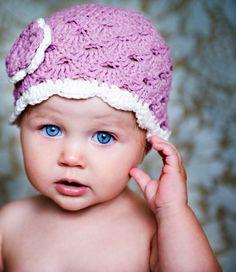 Gehäkelte Baby Hut Baby Mädchen Hut von LovelyKnits auf Etsy