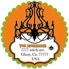 """40 Labels 2"""" Round Personalized Halloween Chandelier, Custom Labels, Party Favors - CHOICE OF SIZE Halloween Labels, Halloween Stickers, Halloween Fun, Halloween Chandelier, Dealing With A Narcissist, Personalized Stickers, Custom Labels, Party Favors, Birthday"""