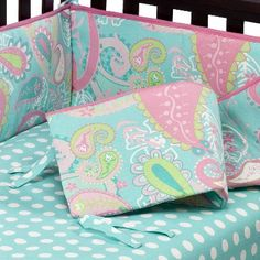 Aqua Pixie Baby 4pc Crib Bedding Set by My Baby Sam : Target Mobile