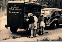 Vintage Chicago Public Library Bookmobile