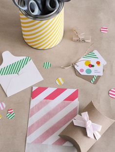 packaging by tokketok & sally shim. loving the stripes and colors!