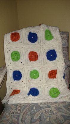 Baby Boy Crib Blanket by KitandaKreations on Etsy