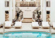 Club Paris, The Ritz Paris, Paris Paris, Hotel Pool, Hotel Spa, Best Hotel Deals, Best Hotels, Restaurants, Pool Bar