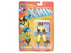 Wolverine (2nd Edition)(Spring-Out Slashing Claws)(Series 1 Trading Card) - X-Men X-Men Figures