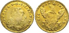 NumisBids: Numismatica Varesi s.a.s. Auction 65, Lot 525 : PALERMO - CARLO DI BORBONE (1734-1759) Doppia Oncia d'oro 1757. ...
