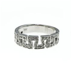 130-0038  14K WHITE GOLD DIAMOND RING DIA.18CT SIZE 6 AND 1/2.THIS RING IS SIZABLE TO MOST FINGER SIZES. SOME SIZES MAY HAVE TO BE SPECIAL ...