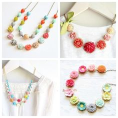 Flower necklace- want, want, want