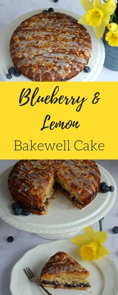 Blueberry & Lemon Bakewell Cake – Curly's Cooking