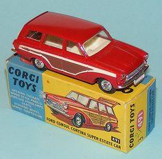 Corgi 491 Ford Cortina Estate in Red